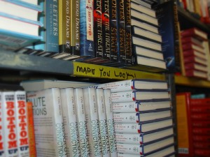 Book store shelf. amazon book industry