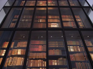 British Library stacks -- words about lovers of books