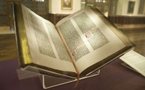 One of the oldest of printed books, New York Public Library's Gutenberg Bible