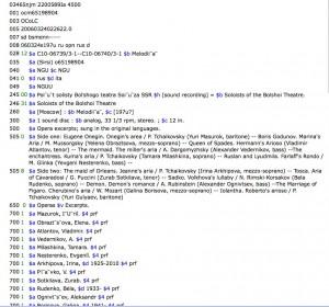 library catalog record