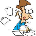 cartoon of writer. sentence variety