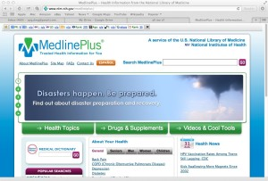 Medline Plus front page