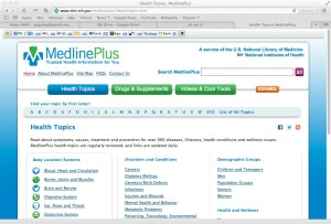 MedlinePlus health issues