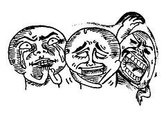 Laughing people, cartoon