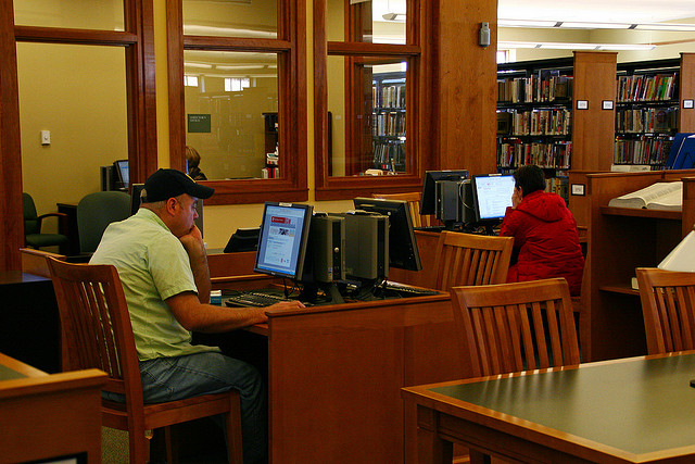 Library patrons. declining library usage
