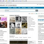 LOC home page screen shot, librarian of congress history
