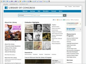 Library of Congress home page