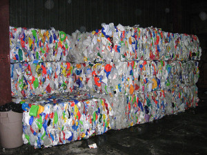 recycled waste plastic