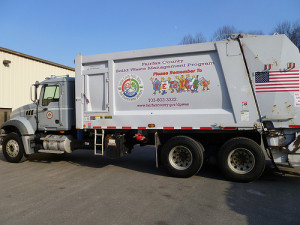 waste and recycling truck