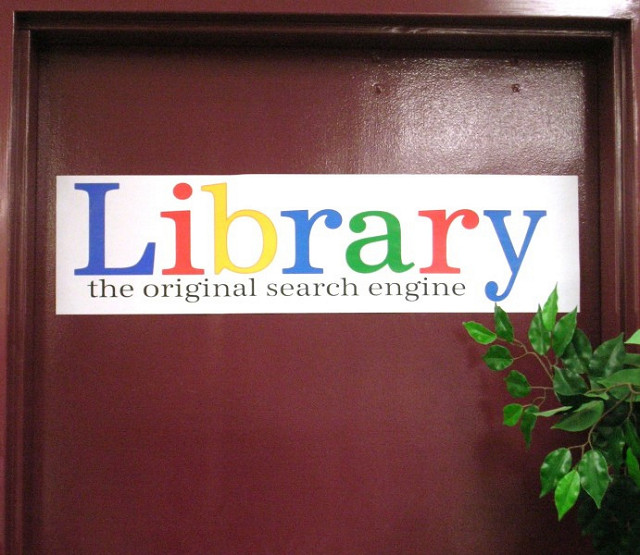 library door, quotations on libraries