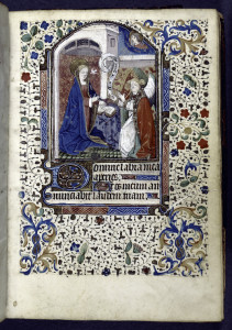 Miniature of annunciation, New York Public Library Digital Collection