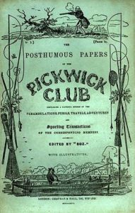 Pickwick Papers original cover -- book publishing industry