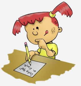 writing child cartoon -- varying structure of sentences