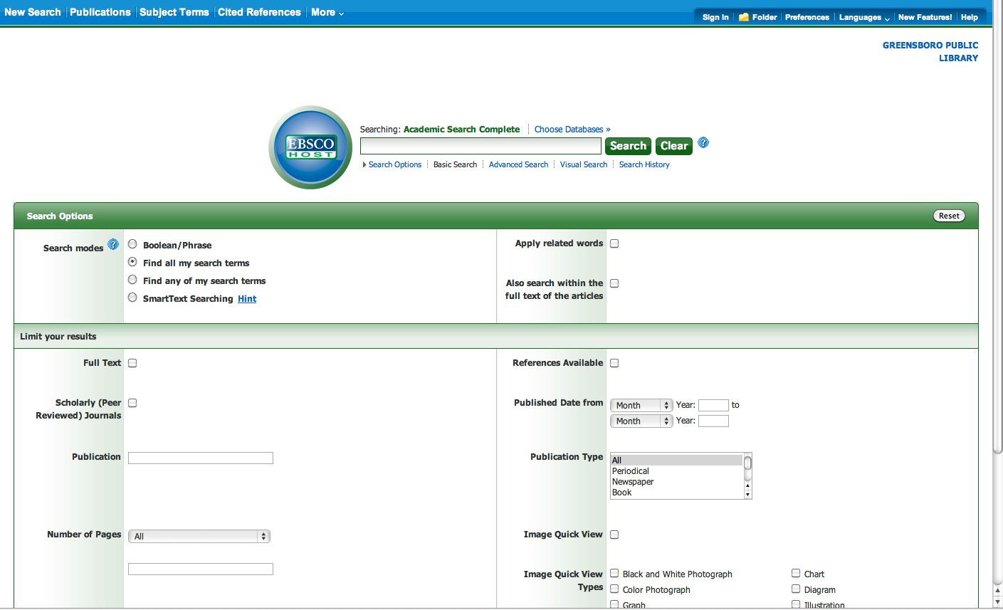How to use online library databases