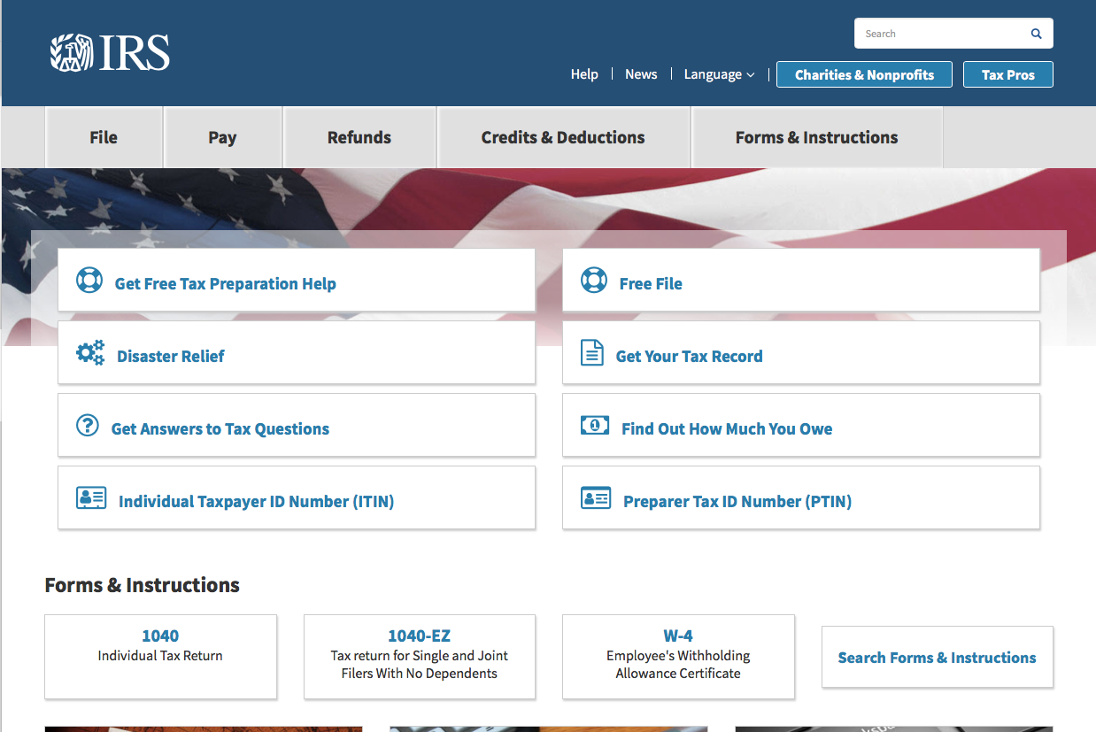 IRS.gov: government websites you should know | Reading, Writing ...